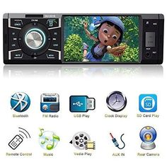 4.1 Inch Single Din Car Stereo MP5 Player with Bluetooth FM Radio Car Audio Video Player