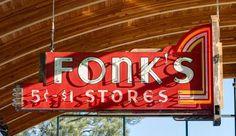 Fonks Stores neon sign Spokane Washington