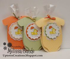 Uptown Creations- Stampin' Up! Independent Demonstrator: Easy Events Baby Shower Favors