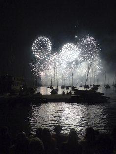 """Zwei Feuerwerke, im Juli am Zürcher """"Zürifäscht"""" (Wie geht die Digitalkamera mit dem vielen Licht um?)"""