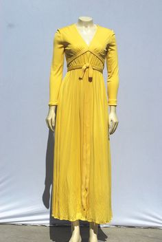 1960's Maxi dress... Elinor Simmons for Malcome Starr (madeof silk jersey)
