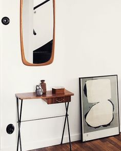 Where to hang it?? #artprint #artistlife #interiordesign #interiors #interior123 #lithography #modern #modernart #danishmodern #teak