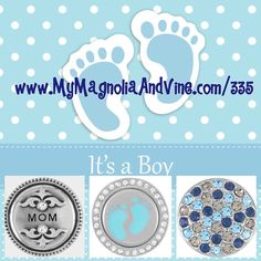 Perfect gift for a new mother! Purchase a bracelet with these snaps. #itsaboy…