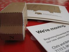 Beep. Beep. - Interactive Moving Announcements - Cut Out Moving Van - Postcard Design and Print