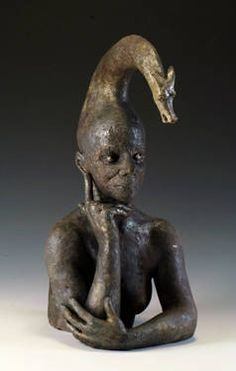 "Saatchi Art Artist Patricia Denimal; Sculpture, ""The ununicorn (L'Alicorne)"" #art"