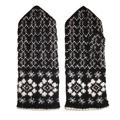 Stylish hand-knitted mittens with traditional floral pattern PREILI Couldn't survive those winters without them! Knit Socks, Knitting Socks, Hand Knitting, Mitten Gloves, Mittens, Wool, Stylish, Hats, Floral