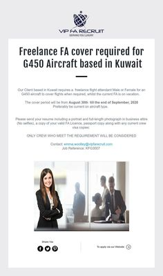 Freelance FA cover required for G450 Aircraft based in Kuwait Aircraft, Base, Cover, Aviation, Planes, Airplane, Airplanes, Plane