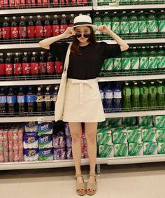 Dress Up Confidence! 66girls.us Belted A-Line Skirt (DHTH) #66girls #kstyle #kfashion #koreanfashion #girlsfashion #teenagegirls #younggirlsfashion #fashionablegirls #dailyoutfit #trendylook #globalshopping