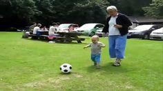 Cutest Babies playing football with Grandma Cutest Babies, Football, Youtube, Sports, Hs Football, Hs Sports, Soccer, American Football, Sport