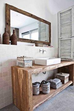 An outdoor bathroom mediterranean bathroom by raphaeldesign mediterranean Boho Bathroom, Bathroom Renos, Bathroom Styling, Bathroom Interior Design, Small Bathroom, Bathroom Ideas, Bad Inspiration, Bathroom Inspiration, Vintage Bathrooms