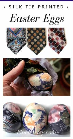 Easter Eggs printed with Silk Ties! Super fun and easy way to decorate your Easter Eggs by printing them with Silk Ties. How to Dye or Print Easter Eggs with Silk Ties Easy Craft Projects, Crafts To Do, Craft Ideas, Stem Projects, Garden Projects, Project Ideas, Decor Ideas, Easter Crafts, Holiday Crafts