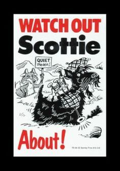 WATCH OUT SCOTTIE ABOUT - DOG SIGN #SAWLEYFINEARTS