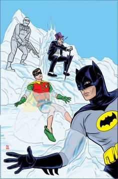 BATMAN '66 #2 cover by Mike Allred