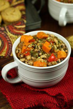 Vegan Smoky Sweet Potato Black-Eyed Pea Soup | The Vegan 8
