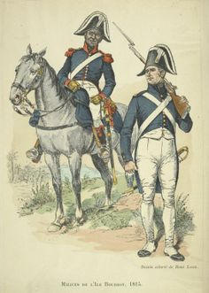 French; Militia L'Isle de Bourbon 1815.