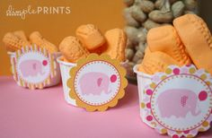 Such an adorable favor for a child's circus party, or even a baby shower. So yummy, so cute! #circuspeanuts