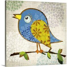 Abstract Canvas, Abstract Print, Canvas Wall Art, Canvas Prints, Art Prints, Kids Canvas, Decoupage, Botanical Art, Bird Art