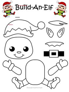 Christmas Crafts for kids to make Click and print this easy to make elf template for kids of all ages, including preschoolers and toddlers. Give this elf as a fun Christmas card, gift him, make Christmas tags or use him as a diy Christmas ornament! Popsicle Stick Christmas Crafts, Christmas Craft Show, Easy Christmas Crafts, Diy Christmas Ornaments, Christmas Elf, Christmas Printables, Kindergarten Christmas Crafts, Homemade Christmas, Kindergarten Classroom