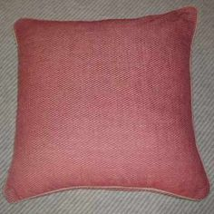 A heavy floor cushion to snuggle up on. Made as a size of 24 inches square Large Floor Cushions, Red Cushions, Large Sofa, Extra Seating, Tudor, Brick, Throw Pillows, Flooring, Red Pillows