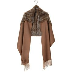 RABBIT FUR SHAWL (€275) ❤ liked on Polyvore featuring accessories, scarves, jackets, shawl, women, pinceau, rabbit fur scarves, shawl scarves, rabbit scarves and rabbit fur shawl