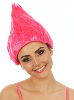 Pink Troll Doll  Gnome Costume Wig (childadult) This pink costume wig is perfect for your Troll Doll or Garden Gnome costume theme  This wig features an elastic headband and will fit all size heads (Children / Teens & Adults) www.thewigoutlet.com.au