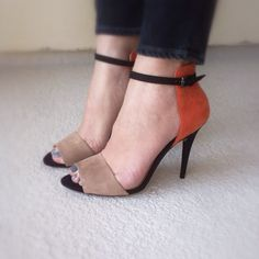 "My ""going on a date"" - shoes shoes shoes fashion shoes Mode Orange, Date Shoes, Shoe Boots, Shoes Heels, Zara Heels, Open Toe Sandals, Shoe Closet, Beautiful Shoes, Shoe Collection"