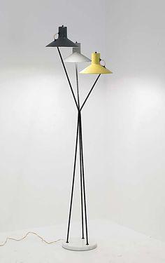 Gino Sarfatti; #1031 Floor Lamp for Arteluce, 1948.