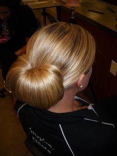 chignon #wedding #hairstyle