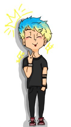 THIS IS POSSIBLY THE CUTEST DRAWING OF MICHAEL I'VE EVER SEEN
