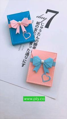 origami paper Cool Paper Crafts, Paper Crafts Origami, Diy Paper, Paper Gifts, Diy Crafts Hacks, Diy Crafts For Gifts, Diy Craft Projects, Instruções Origami, Diy Origami Cards
