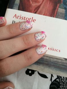 Confetti & bow nails by s.doherty