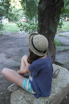 Летняя шляпа #1 по схеме Вали Cyxodol  Материал: бумажная пряжа Katia paper (Испания)