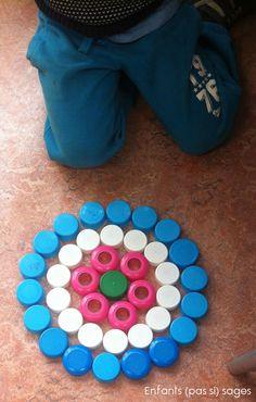 mandala fleur en MS - Enfants (pas si) sages