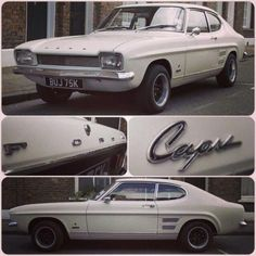 Ford Capri 1300 L Maintenance/restoration of old/vintage vehicles… Ford Capri, Ford Lincoln Mercury, Ford Motor Company, My Dream Car, Dream Cars, Sport Cars, Race Cars, Mercury Capri, Cars Uk