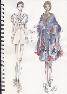 Illustration.Files: New York Fashion Week Runway Sketches by Pippa McManus