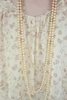 Lovely Decorative Pearls and Vintage Beaded Necklace
