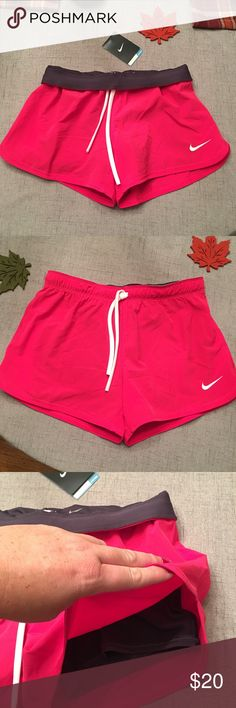 New Nike Workout Shorts Pink Size small, new with tags. Has compression shorts underneath. No flaws.   Happy to bundle, I will promptly answer any questions :) Follow me to see new items.   Clean, non smoking home. Nike Shorts
