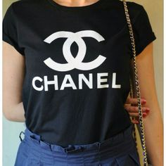 chanel shirt. black chanel tee shirt g