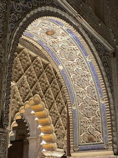 Real Alcazar, Seville, Spain  (by stephenweaver). Spent 5 Days leave in Spain after Desert Storm before return to the US