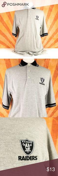 87cf19d9a NFL Polo Shirt LA Los Angeles Oakland Raiders Sz L Item  NFL Men s Polo  Shirt