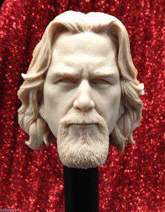 CUSTOM 1/6 The Dude Big Lebowski Unpainted Headsculpt! Jeff Bridges! RARE!