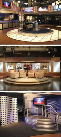 TV Studio Set Design, Fabrication & Installation from Condit