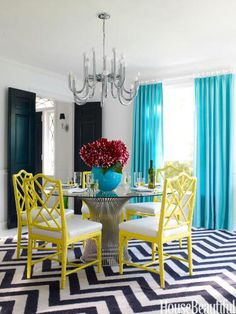 Pair dark classic colors with bold and bright colors. Designer: Jonathan Adler. Photo: Ngoc Minh Ngo. housebeautiful.com