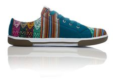 Mojito Low Top - A touch of light, bright blue mixed in with other flavors. This is one cocktail you don't want to pass up. It's so fresh and minty! Handmade in South America. Style Tag: Incan, Peruvian, Tribal, Aztec, Geo, Ethnic
