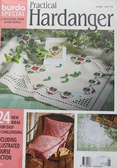 Practical Hardanger Embroidery Magazine Burda by TheHowlingHag, $8.95