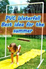 PVC waterfall: best idea for the summer Source