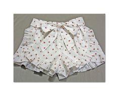 Children's shorts pattern Lolita Shorts pdf sewing pattern for girls 2 - 12 years, girl's shorts sewing pattern