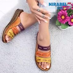 Low Heels, Wedge Heels, Supportive Sandals, Open Toe Sandals, Women's Sandals, Ciabatta, Fashion Accessories, Depressing, Women's Fashion