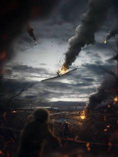 Crear una escena de batalla---Create a Battlefield Scene Using Stock Photography in Photoshop