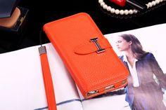 Buy Designer hermes iphone 6/6S Leather Case Cover Orange